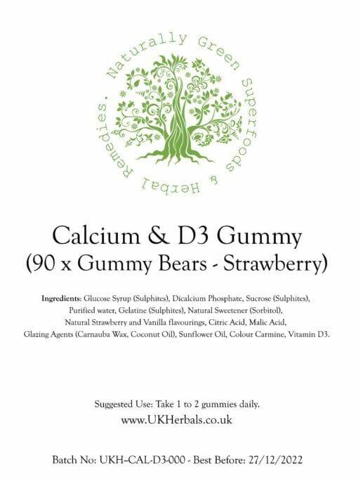 Calcium Vitamin D3 Gummy Bears