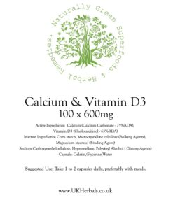 Calcium & Vitamin D3 Tablets-600mg