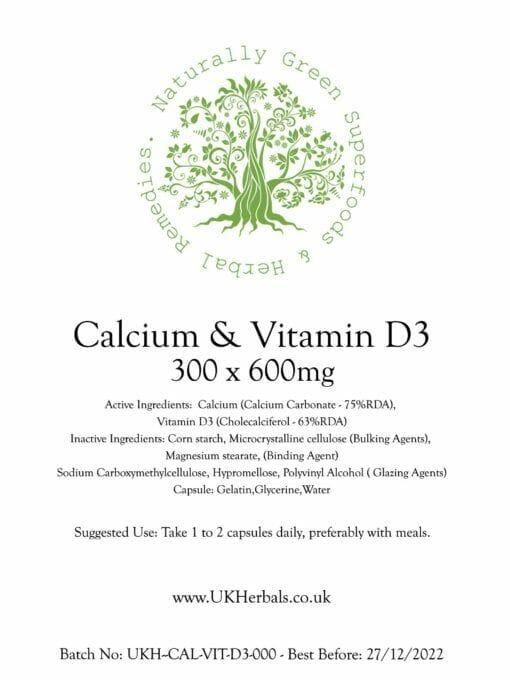 Calcium & Vitamin D3 Tablets-600mg