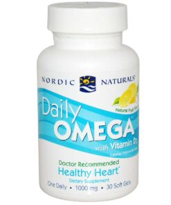 Daily Omega with Vitamin D3 - Natural Fruit - 30 Soft Gels