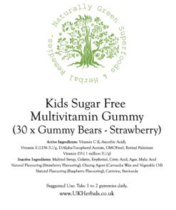 Kids Sugar Free Multivtamin - Strawberry