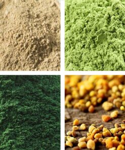 Bee Pollen - Spirulina - Maca - Wheatgrass Superfood Selection