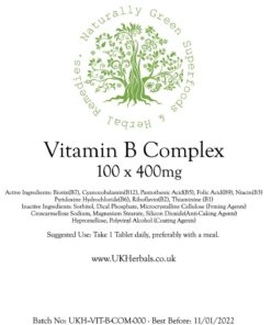 Vitamin B Complex Tablet Product Label