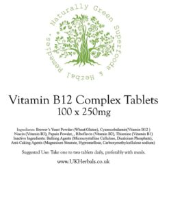 Vitamin B12 Complex Tablet Product Label