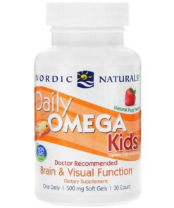 Daily Omega Kids, Natural Fruit Flavour - 30 softgels