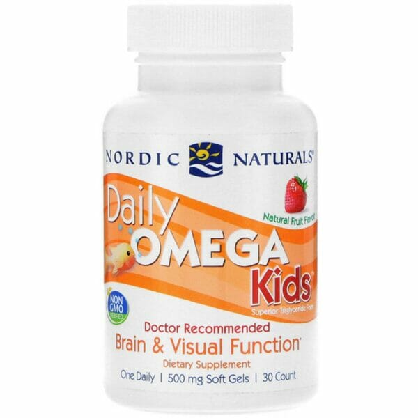 Daily Omega Kids, Natural Fruit Flavour - 30 softgels